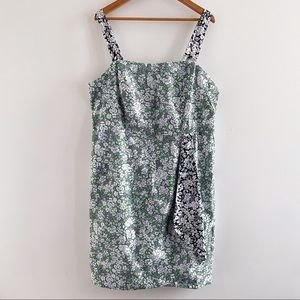 Anthropologie Maeve Keely green floral mini dress